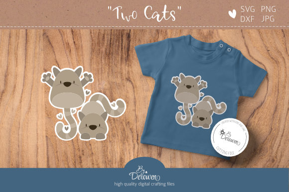 Download Free Layered Cats Graphic By Byderowen Creative Fabrica for Cricut Explore, Silhouette and other cutting machines.