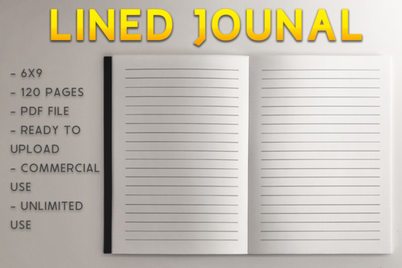 Print on Demand: Lined Journal | KDP Template Graphic KDP Interiors By KDP Product