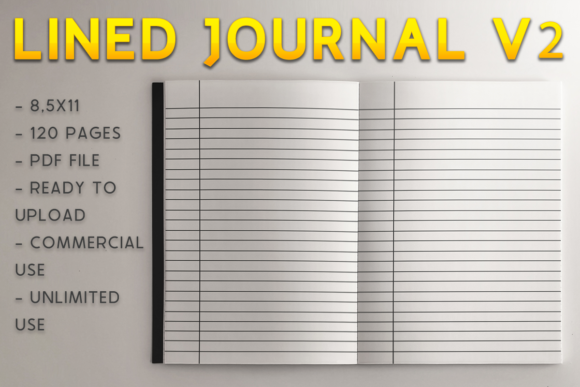 Print on Demand: Lined Journal V2 | KDP Template Graphic KDP Interiors By KDP Product