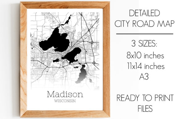 Download Free Madison Wisconsin City Map Graphic By Svgexpress Creative Fabrica for Cricut Explore, Silhouette and other cutting machines.