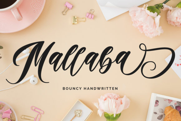 Print on Demand: Mallaba Script & Handwritten Font By Fallengraphic