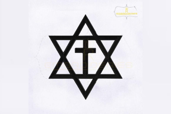 Messianic Jewish Cross Religion & Faith Embroidery Design By RoyalEmbroideries