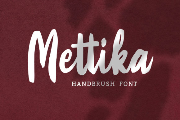 Print on Demand: Mettika Script & Handwritten Font By Weape Design