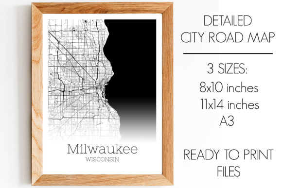 Print on Demand: Milwaukee Wisconsin City Map Graphic Photos By SVGExpress