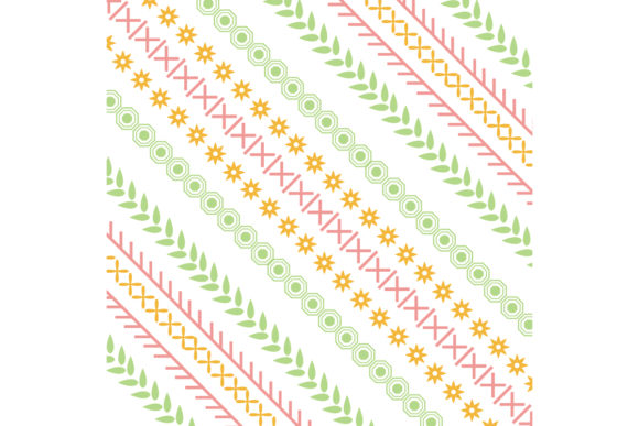 Modern Seamless Embroidery Design Graphic Backgrounds By stockfloral
