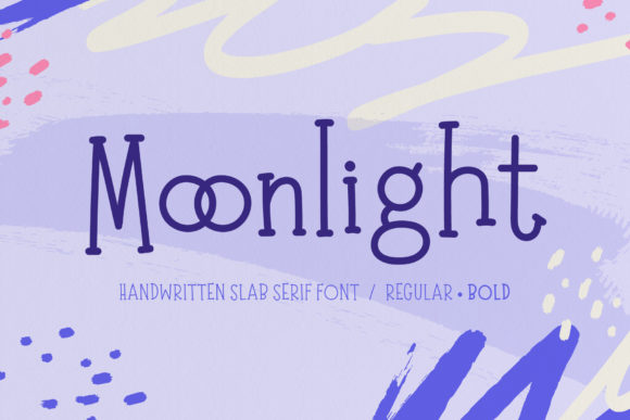 Print on Demand: Moonlight Script & Handwritten Font By typefairy