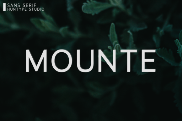 Print on Demand: Mounte Sans Serif Font By Huntype