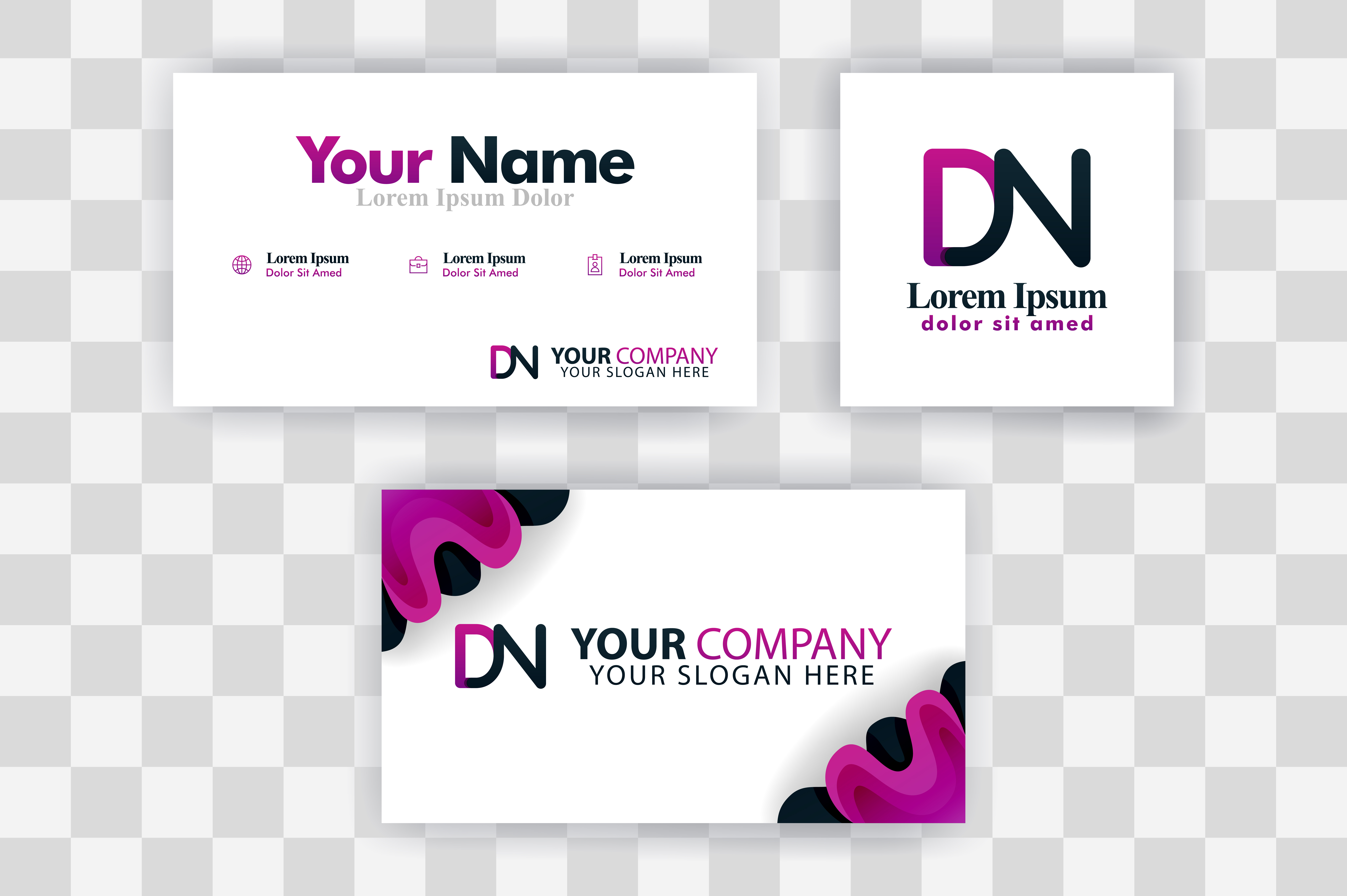 Download Free Nd Letter Logo Business Card Template Graphic By for Cricut Explore, Silhouette and other cutting machines.