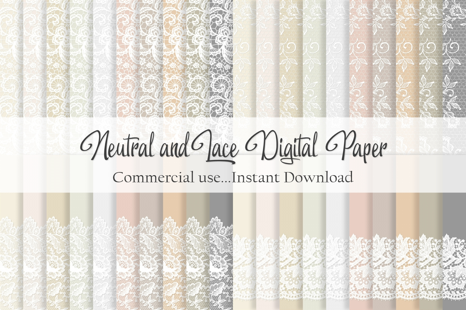 Download Free Neutral And Lace Digital Paper Graphic By Simply Paper Craft for Cricut Explore, Silhouette and other cutting machines.
