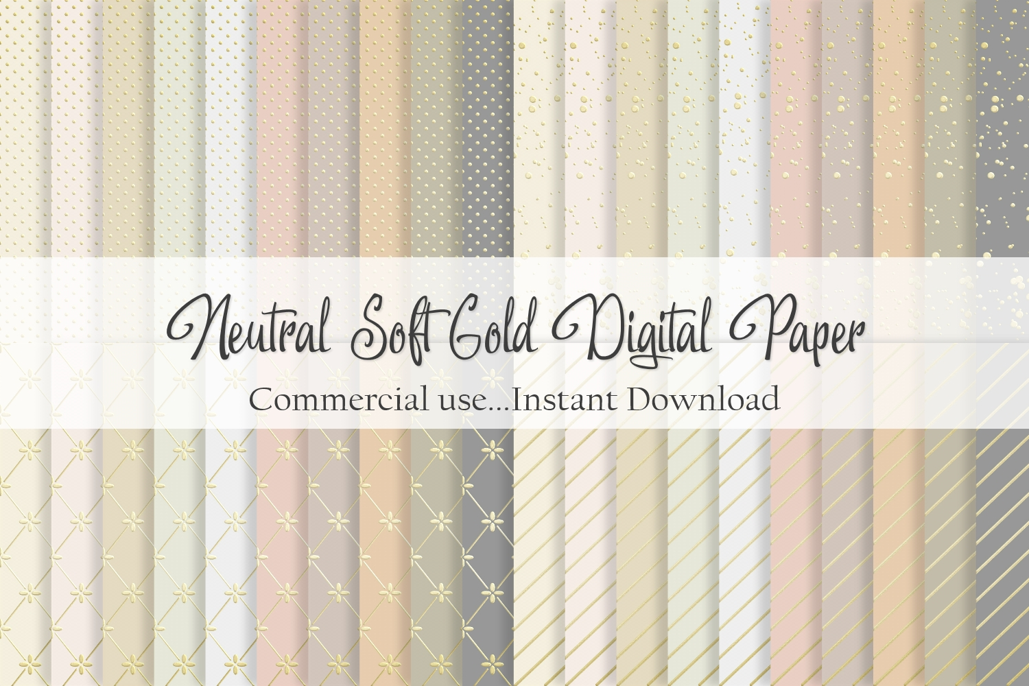 Download Free Neutral And Soft Gold Digital Paper Graphic By Simply Paper for Cricut Explore, Silhouette and other cutting machines.