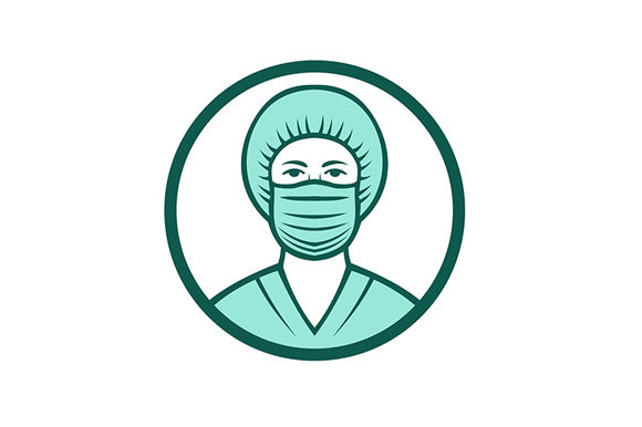 Download Free Nurse Wearing Surgical Mask Icon Graphic By Patrimonio for Cricut Explore, Silhouette and other cutting machines.