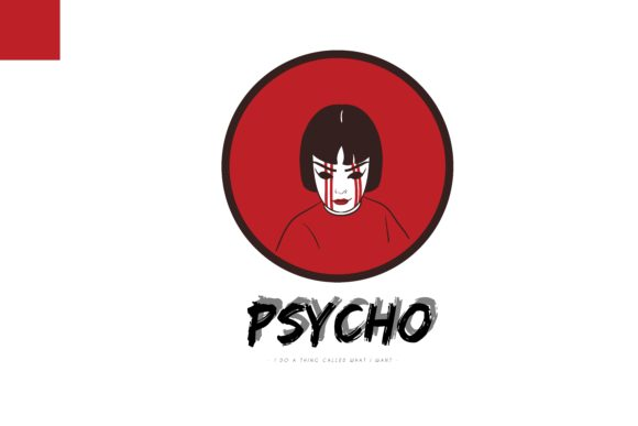 Download Free Occult Red Girl Psycho Graphic By Belangbiru Creative Fabrica for Cricut Explore, Silhouette and other cutting machines.
