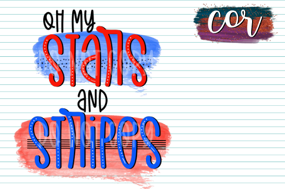 Print on Demand: Oh My Stars and Stripes Graphic Crafts By designscor
