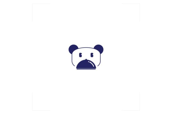 Download Free Panda Bear Logo Food Graphic By Bentang Tebe Creative Fabrica for Cricut Explore, Silhouette and other cutting machines.