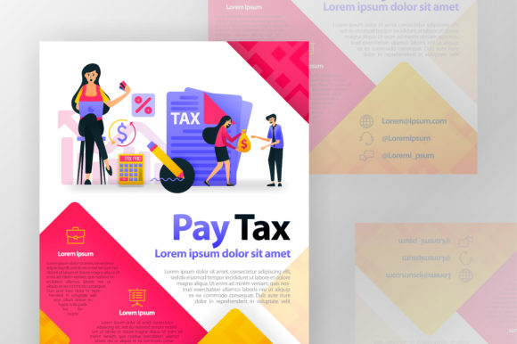 Download Free Pay Taxes Online Business Poster Graphic By Setiawanarief111 for Cricut Explore, Silhouette and other cutting machines.