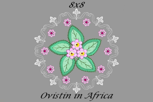 Pink Floral Circle Quilt Block Sewing & Crafts Embroidery Design By Ovistin in Africa