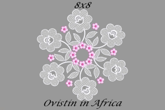 Pink and White Floral Quilt Block Sewing & Crafts Embroidery Design By Ovistin in Africa