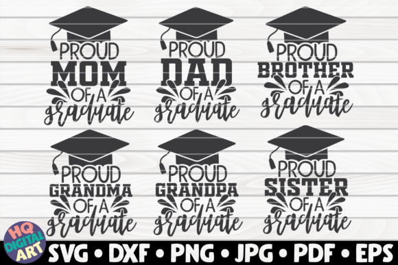 Download Free Proud Family Of A Graduate Bundle Graphic By Mihaibadea95 for Cricut Explore, Silhouette and other cutting machines.