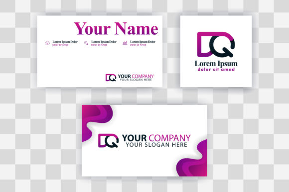 Download Free Qd Letter Logo Business Card Template Graphic By for Cricut Explore, Silhouette and other cutting machines.