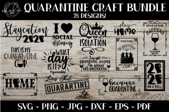 Quarantine Social Distance Bundle  Graphic Crafts By okadee.svg