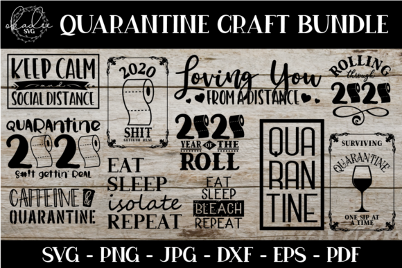 Download Free Quarantine Social Distance Bundle Graphic By Okadee Svg for Cricut Explore, Silhouette and other cutting machines.