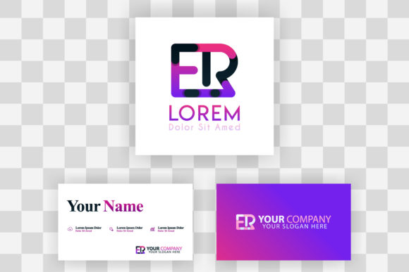 Download Free Re Letter Logo And Card Template Graphic By Setiawanarief111 for Cricut Explore, Silhouette and other cutting machines.
