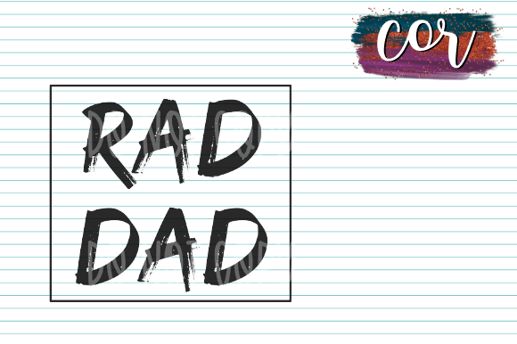 Download Free Rad Dad Graphic By Designscor Creative Fabrica for Cricut Explore, Silhouette and other cutting machines.