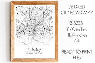 Download Free Raleigh North Carolina City Map Graphic By Svgexpress Creative for Cricut Explore, Silhouette and other cutting machines.