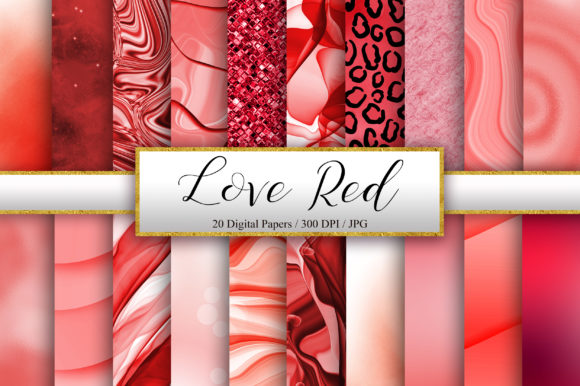 Red Background Digital Papers Graphic Backgrounds By PinkPearly