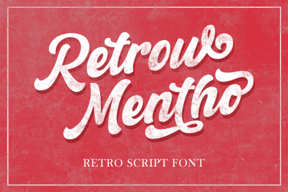 Print on Demand: Retrow Mentho Script & Handwritten Font By fontkong