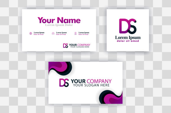 Download Free Sd Letter Logo Business Card Template Graphic By SVG Cut Files