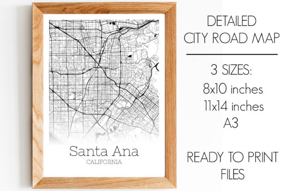 Download Free Santa Ana California City Map Graphic By Svgexpress Creative for Cricut Explore, Silhouette and other cutting machines.