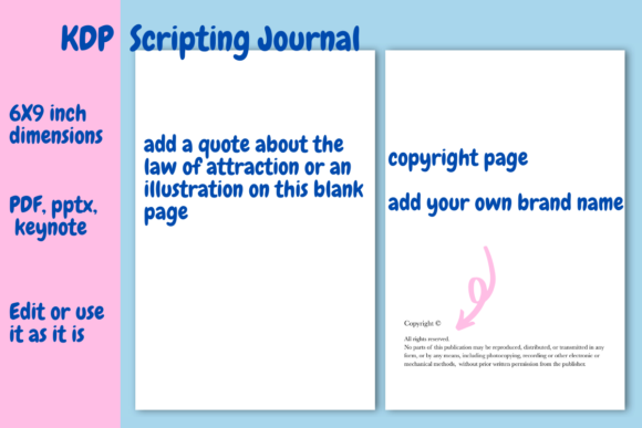 Download Free Scripting Journal For Kdp Graphic By Income Plum Creative Fabrica for Cricut Explore, Silhouette and other cutting machines.