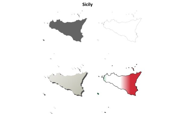 Download Free 1 Sicily Map Designs Graphics for Cricut Explore, Silhouette and other cutting machines.