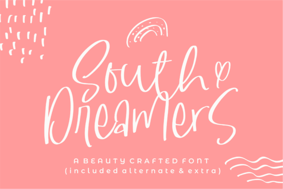 South Dreamers Font By Azetype Creative Fabrica