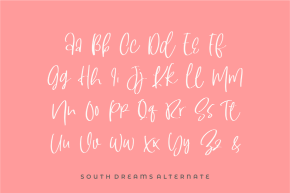 Print on Demand: South Dreamers Script & Handwritten Font By Azetype - Image 4