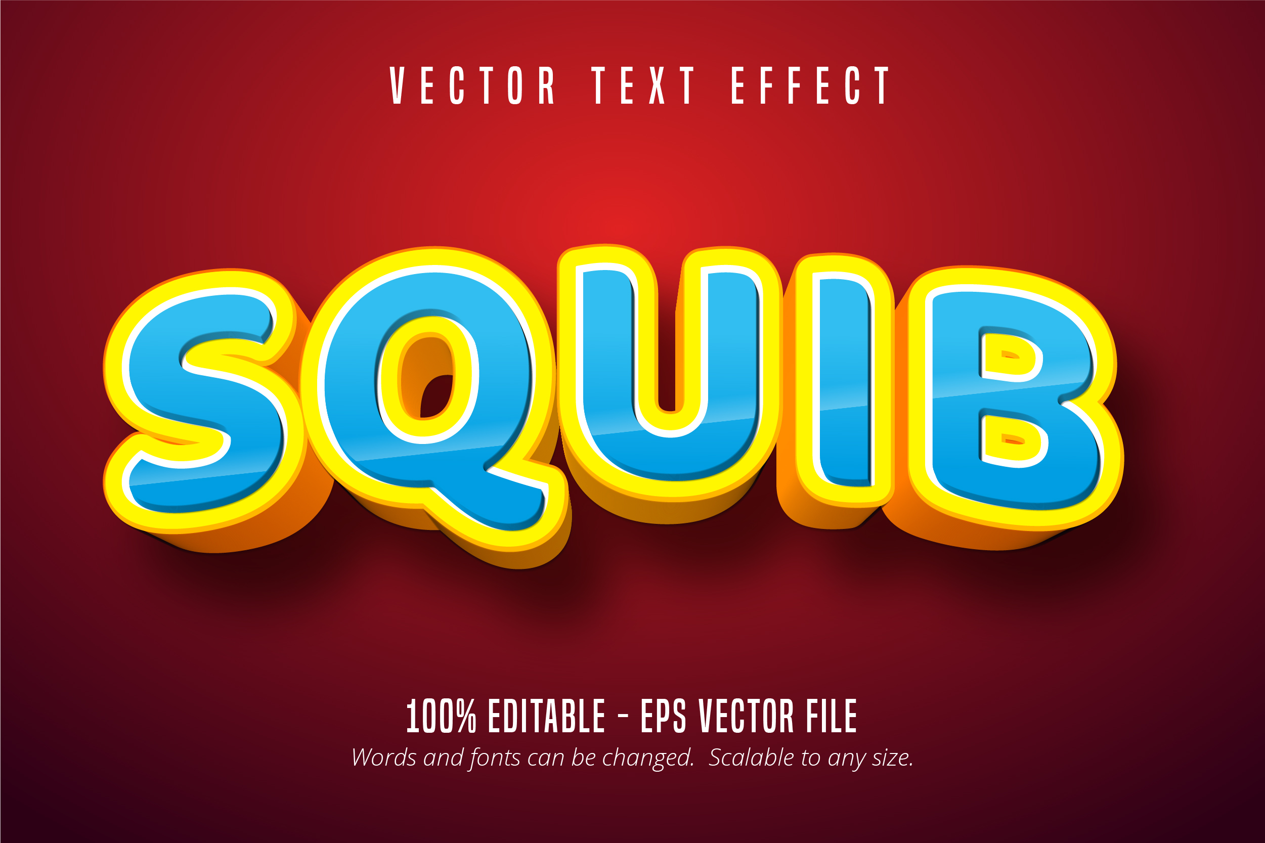 Squib Text 3d Editable Text Effect Graphic By Mustafa Beksen