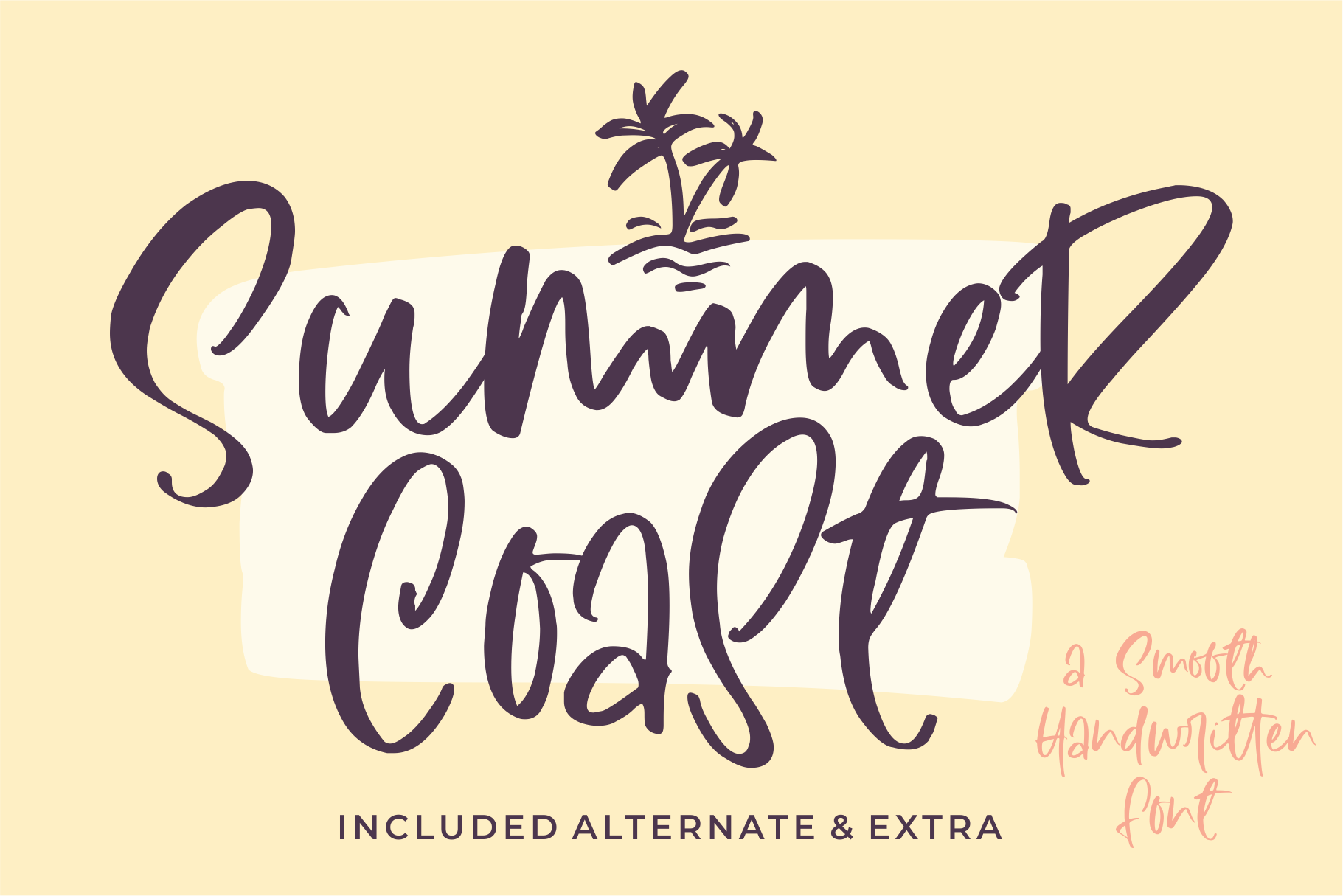 Download Free Summer Coast Font By Azetype Creative Fabrica for Cricut Explore, Silhouette and other cutting machines.