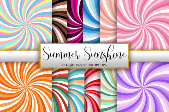 Summer Sunshine Background Digital Paper Graphic Backgrounds By PinkPearly