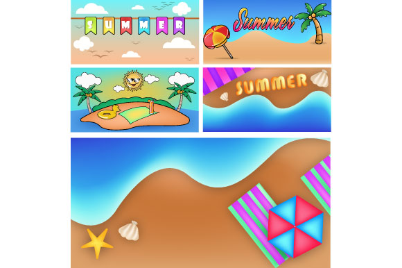 Download Free Summer Cartoon Cool Vintage Background Graphic By Iop Micro for Cricut Explore, Silhouette and other cutting machines.