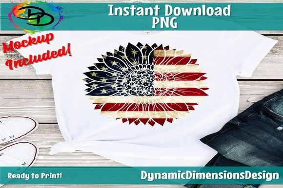 Sunflower Flag Graphic Crafts By dynamicdimensions - Image 2