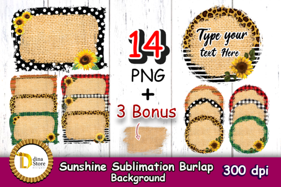 Print on Demand: Sunshine Sublimation Burlap Background Graphic Backgrounds By dina.store4art