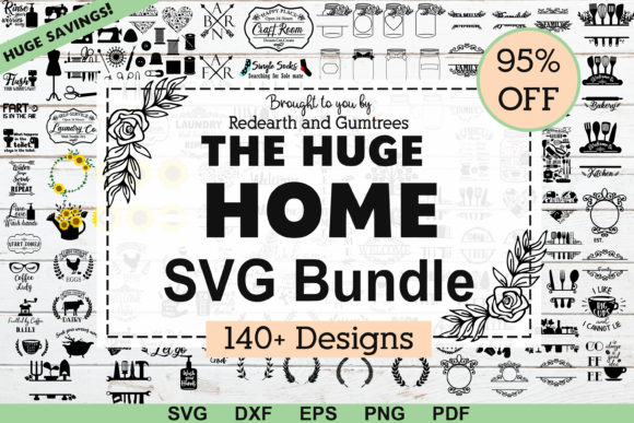 The Huge Home Kitchen Farm Garden Bundle Grafik Plotterdateien von redearth and gumtrees