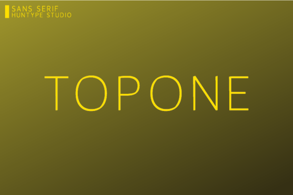 Print on Demand: Topone Sans Serif Font By Huntype