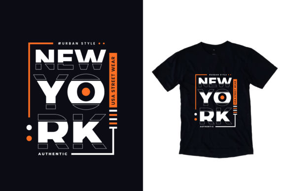Download Free T Shirt New York Lettering Graphic By Yazriltri Creative Fabrica for Cricut Explore, Silhouette and other cutting machines.