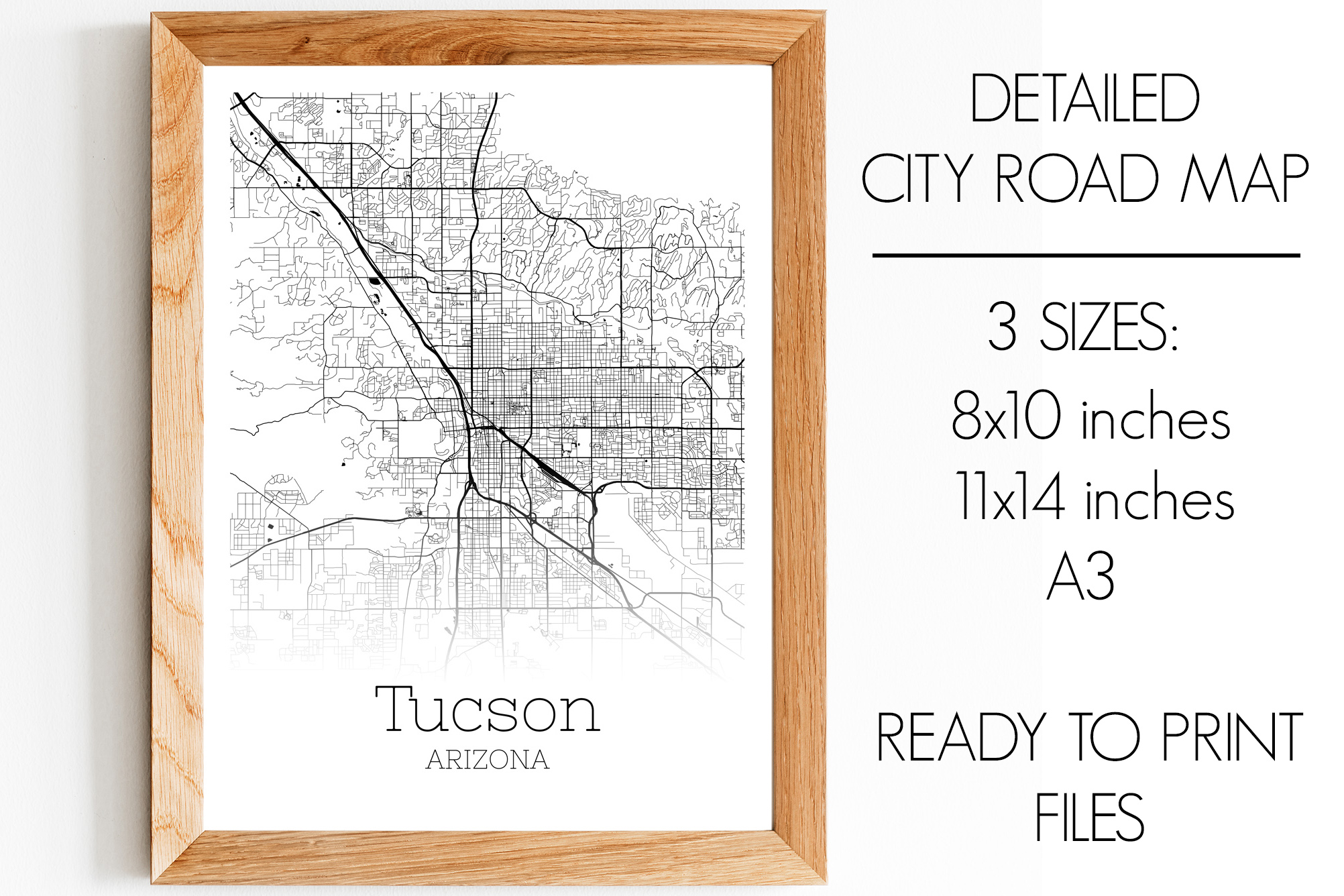 Download Free Tucson Arizona City Map Graphic By Svgexpress Creative Fabrica for Cricut Explore, Silhouette and other cutting machines.