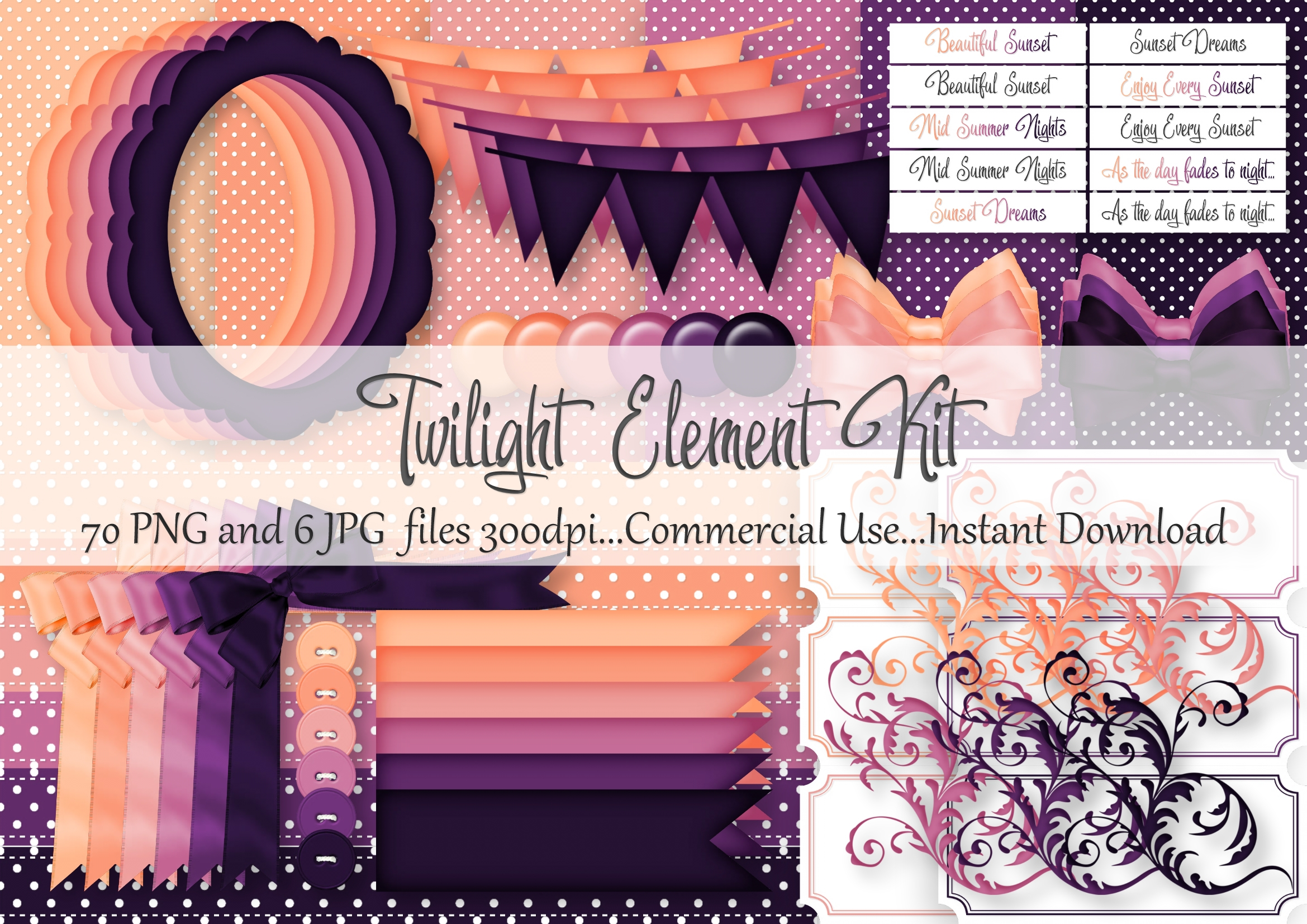 Download Free Twilight Element Kit Graphic By Simply Paper Craft Creative for Cricut Explore, Silhouette and other cutting machines.