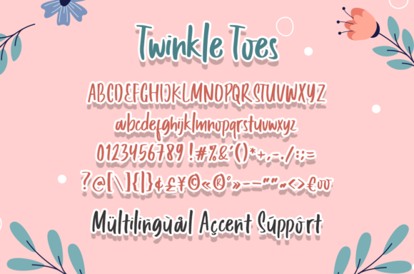 Twinkle Toes Font Preview