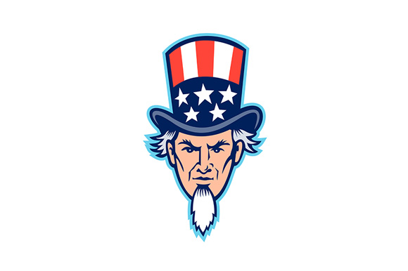 Download Free Uncle Sam Head Mascot Graphic By Patrimonio Creative Fabrica for Cricut Explore, Silhouette and other cutting machines.