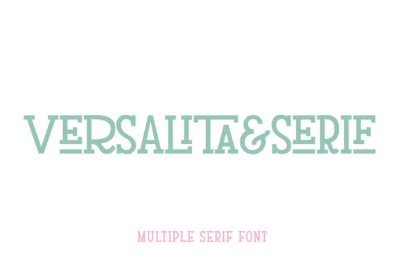 Print on Demand: Versalita&Serif Serif Font By francofuentes